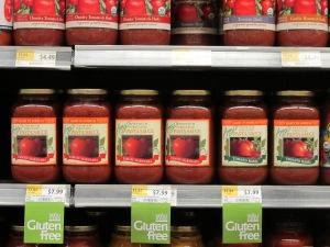 SociallyMindedMarketing.com captures a photo of Amy's Organic Pasta Sauce at WFM.