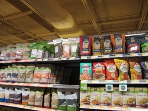 SociallyMindedMarketing.com captures a photo of truRoots and its competition at WFM.