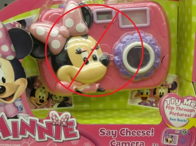 Disney's camera is hyper-gender specific.  After a child takes a picture, she is shown pre-loaded pictures of Daisy and Minnie