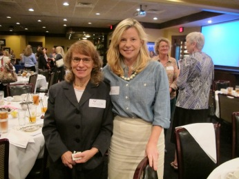 Lexington business woman and congressional candidate, Elizabeth Jensen poses with another KY leader during a Women Leading Kentucky roundtable discussion.