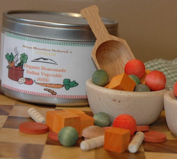 Order this Pretend Organic Vegetable Soup from http://etsy.me/1ek3Riw  HouseMountainNatural