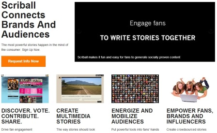 Scriball.com helps brands co-create stories with their fans. @AnnaSeacat SociallyMindedMarketing.com