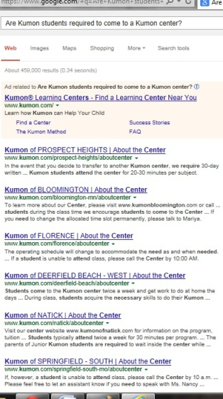 Why do Kumon students have to attend a Kumon center in person? | KUMON SE LEXINGTON | Socially Minded Marketing