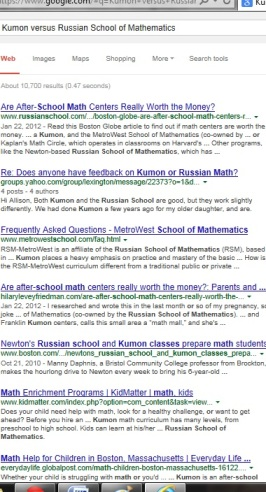 Kumon versus Russian School of Mathematics | KUMON SE LEXINGTON | Socially Minded Marketing