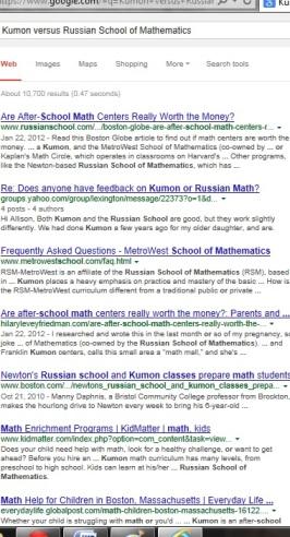 Kumon versus Russian School of Mathematics   KUMON SE LEXINGTON   Socially Minded Marketing