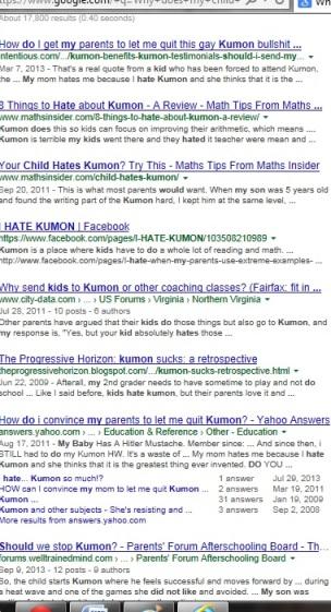 Why does my child hate Kumon?   KUMON SE LEXINGTON   SociallyMindedMarketing.com
