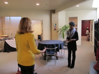 NaShara Mitchell, founder of Studio B, shows of the new space for creative exchange in Indianapolis. | SociallyMindedMarketing.com