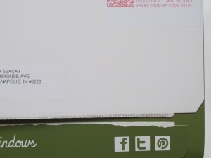 Social Media Icons on Direct Mail Piece | Anna Seacat | SociallyMindedMarketing.com