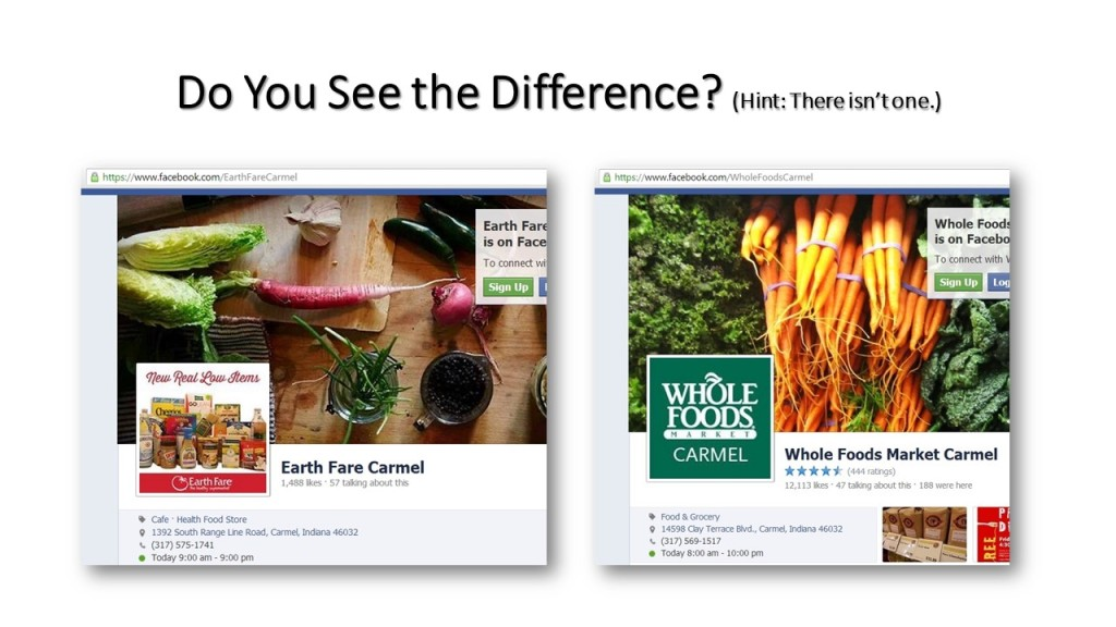Whole Foods versus Earth Fare