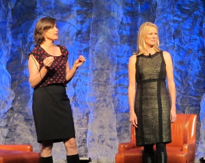 "alt=""Katty Kay and Claire Shipman at Indiana Governor's Conference"""