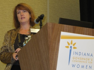 "alt=""Whitney Johnson at the Indiana Governors Conference"""